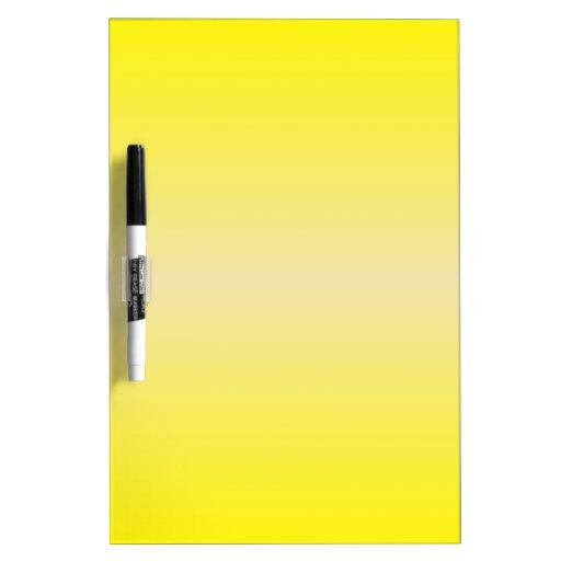 Horizontal Yellow 2 - Vanilla and Cadmium Yellow Dry Erase Whiteboards