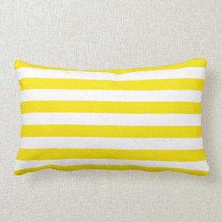 Horizontal Yellow Stripes Lumbar Pillow