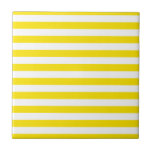 """Horizontal Yellow Stripes Tile<br><div class=""""desc"""">Be sure to check out all options to customize your selection!  For example,  the white in the design may be changed to a different color!  Thanks for looking!</div>"""