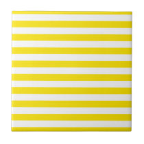 Horizontal Yellow Stripes Tile