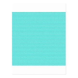 Horizontal Zigzag - Celeste and Turquoise Postcard