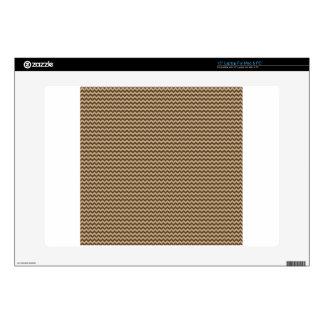 "Horizontal Zigzag - Khaki and Dark Brown Skins For 15"" Laptops"