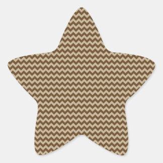 Horizontal Zigzag - Khaki and Dark Brown Sticker