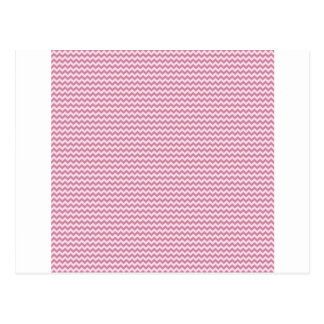 Horizontal Zigzag - Pink Lace and Puce Postcard