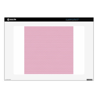 Horizontal Zigzag - Pink Lace and Puce Laptop Skins