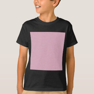 Horizontal Zigzag - Pink Lace and Puce T-Shirt