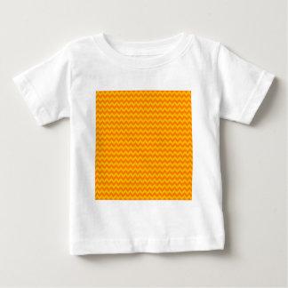 Horizontal Zigzag Wide - Orange and Amber Baby T-Shirt