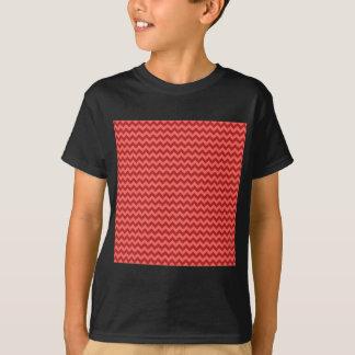 Horizontal Zigzag Wide - Pastel Red and Firebrick T-Shirt