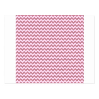 Horizontal Zigzag Wide - Pink Lace and Puce Postcard