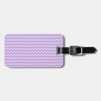Horizontal Zigzag Wide-Wisteria and Pale Lavender Luggage Tag