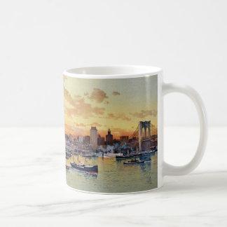 HORIZONTE 1896 DE NUEVA YORK TAZA DE CAFÉ