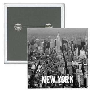 Horizonte 1987 de New York City los E.E.U.U. Pin Cuadrada 5 Cm