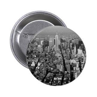 Horizonte 1987 de New York City los E.E.U.U. Pin Redondo 5 Cm