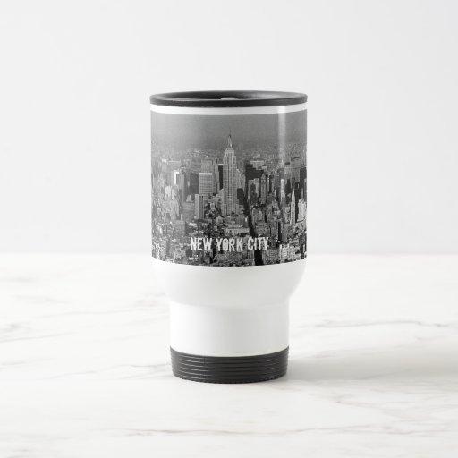 Horizonte 1987 de New York City los E.E.U.U. Tazas