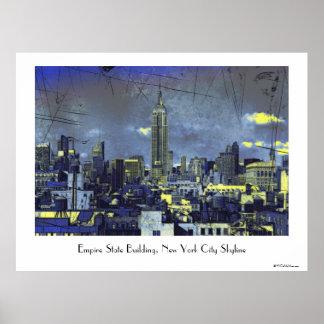 Horizonte #1 de Grungified New York City Poster