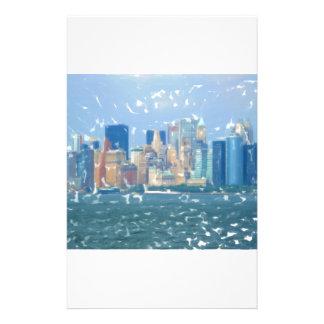 Horizonte 1 de la ciudad de NYC Personalized Stationery