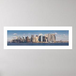 Horizonte 2006 panorámico del Lower Manhattan Posters