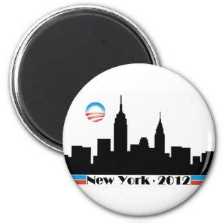 Horizonte 2012 de Obama New York City Imán Redondo 5 Cm