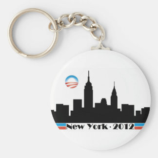 Horizonte 2012 de Obama New York City Llavero Redondo Tipo Pin