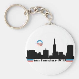 Horizonte 2012 de Obama San Francisco Llavero Redondo Tipo Pin