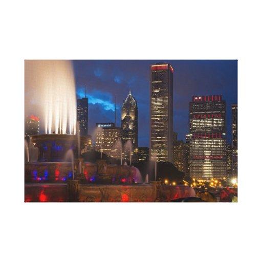 Horizonte 2013 de los Chicago Blackhawks en lona Impresión En Lienzo Estirada