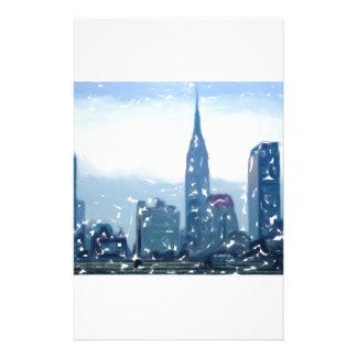 Horizonte 3 de la ciudad de NYC Personalized Stationery