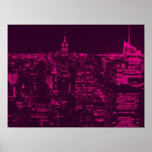 Horizonte 3 de Nueva York - impresión del poster
