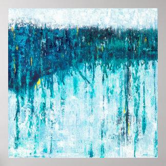 Horizonte azul - arte abstracto azul
