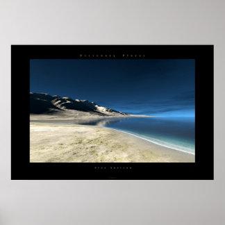 horizonte azul poster