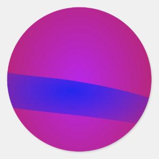 Horizonte azul pegatina redonda