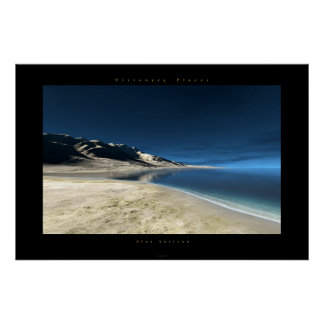 horizonte azul póster