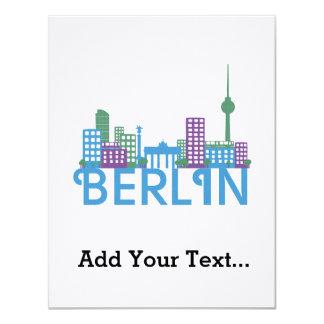 Horizonte Berlín Invitación 10,8 X 13,9 Cm