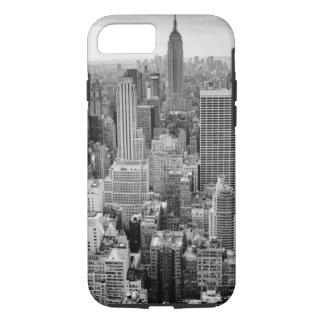 Horizonte blanco negro de New York City Funda iPhone 7