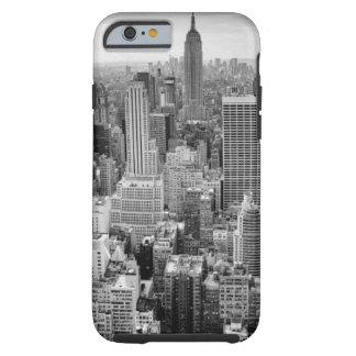 Horizonte blanco negro de New York City Funda Resistente iPhone 6