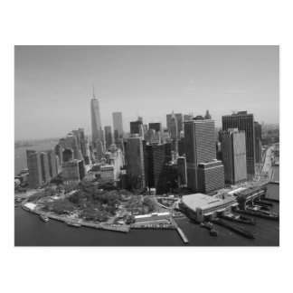 Horizonte blanco negro de New York City Postal