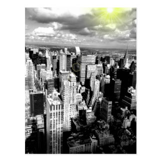 Horizonte blanco y negro de New York City Postales