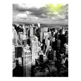 Horizonte blanco y negro de New York City Postales