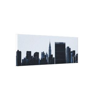 Horizonte Bluesy de NYC Impresiones En Lona