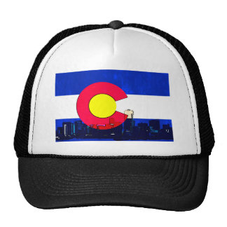 Horizonte brillante de la bandera de Denver Gorro De Camionero