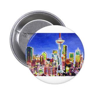 Horizonte brillante de Seattle con la aguja del Pins