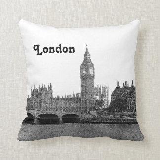Horizonte BRITÁNICO de Londres Inglaterra grabado Almohada