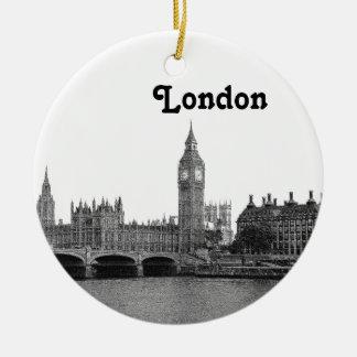 Horizonte BRITÁNICO de Londres Inglaterra grabado  Ornamentos De Navidad