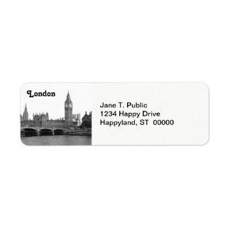 Horizonte BRITÁNICO de Londres Inglaterra grabado Etiquetas De Remite
