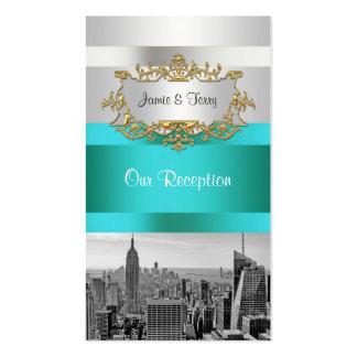 Horizonte BW de NYC 05 tarjetas blancas del Tarjetas De Visita