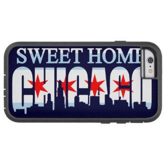 Horizonte casero dulce de la bandera de Chicago Funda De iPhone 6 Tough Xtreme
