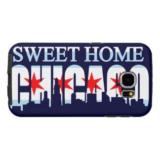 Horizonte casero dulce de la bandera de Chicago Funda Samsung Galaxy S6