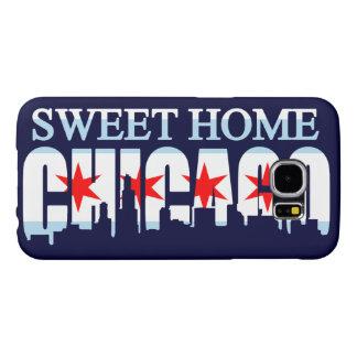 Horizonte casero dulce de la bandera de Chicago Fundas Samsung Galaxy S6