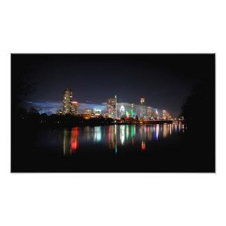 Horizonte céntrico 2 de la noche de Austin Tejas Fotografías