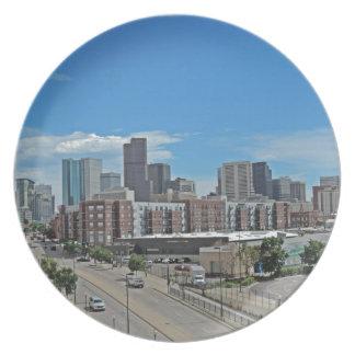 Horizonte céntrico copy.jpg de la ciudad de Denver Platos Para Fiestas
