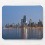 Horizonte céntrico de Chicago Alfombrilla De Raton